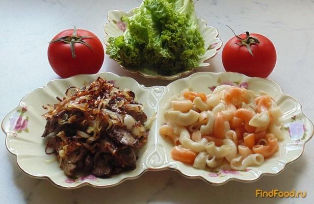 Рецепт Куриная печень с медовым луком рецепт с фото