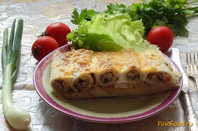 Рецепт Блинная запеканка с мясом и грибами рецепт с фото