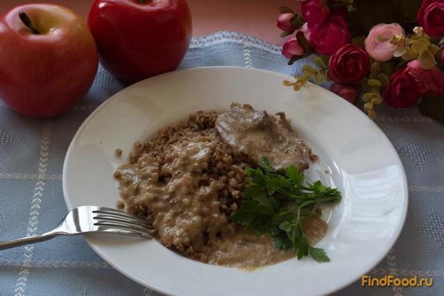 Рецепт Телятина в сметанном соусе рецепт с фото