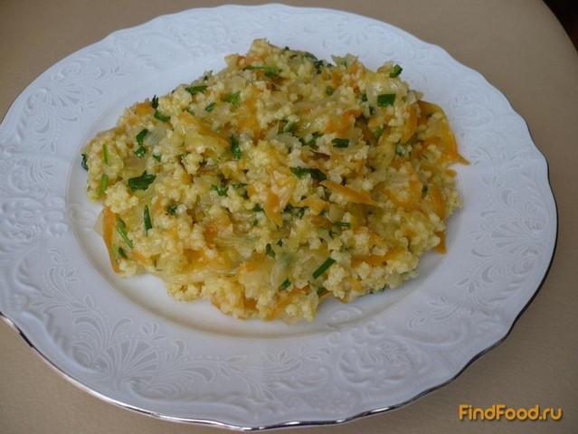 Рецепт Пшенная каша с капустой рецепт с фото