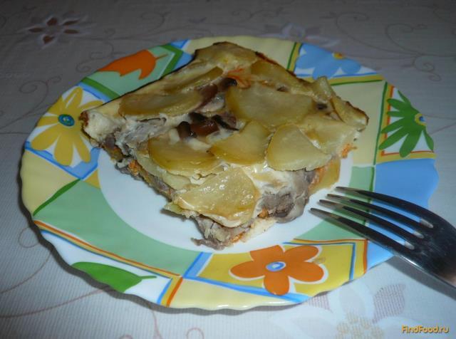 Рецепт Картофельная запеканка с грибами рецепт с фото