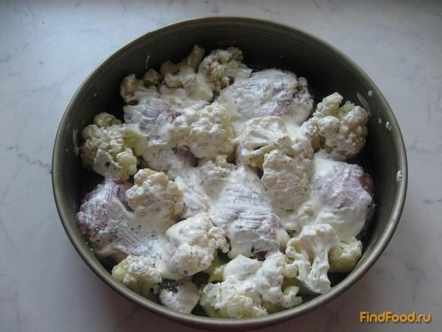Курица запеченная с цветной капустой рецепт с фото 5-го шага