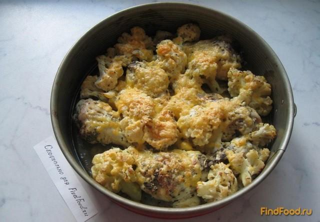 Курица запеченная с цветной капустой рецепт с фото 6-го шага