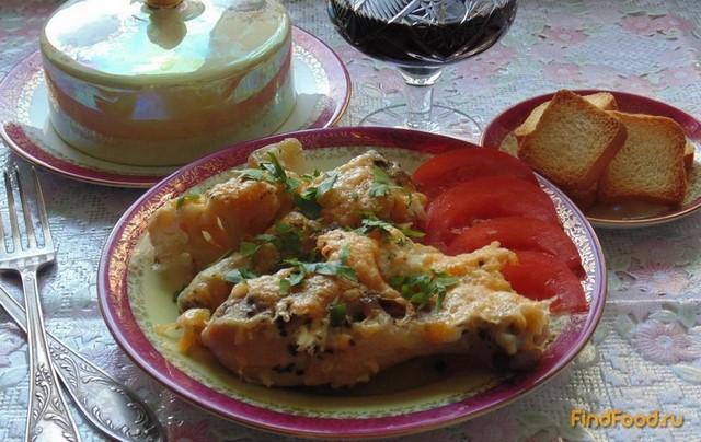 Рецепт Курица запеченная с цветной капустой рецепт с фото