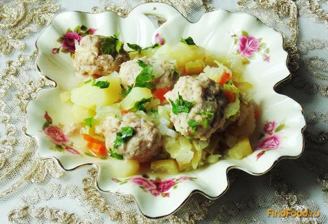 Рецепт Овощное рагу с тефтелями рецепт с фото