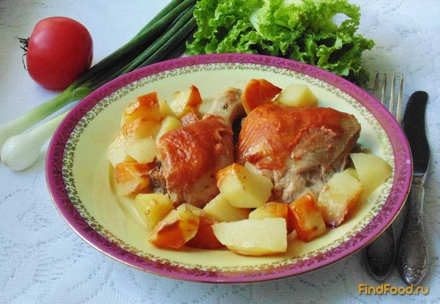 Рецепт Курица в пиве с картофелем рецепт с фото