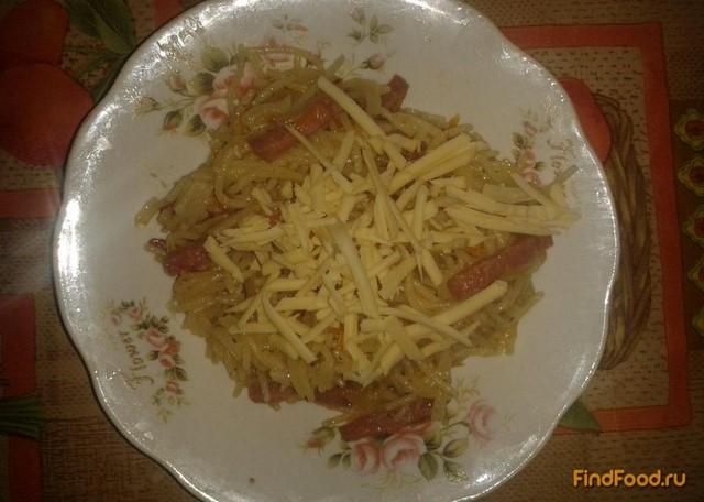 Рецепт Вермишель с колбасой рецепт с фото