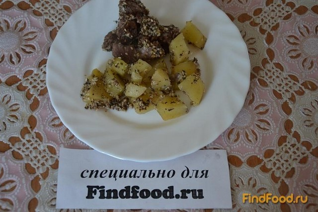 Рецепт Говядина с картошкой и кунжутом рецепт с фото
