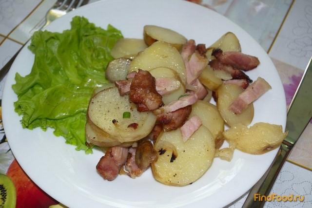 Рецепт Картошка с беконом и луком рецепт с фото