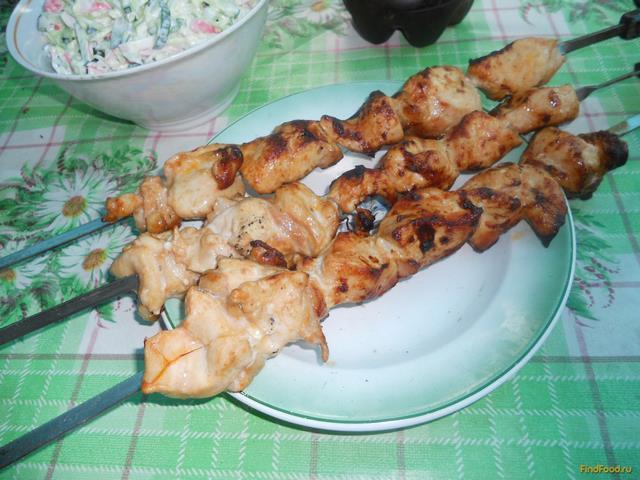 Рецепт Сочный шашлык из куриной грудки рецепт с фото