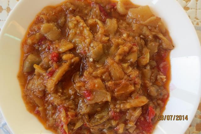 Рецепт Тушеный баклажан с перцем и помидорами рецепт с фото
