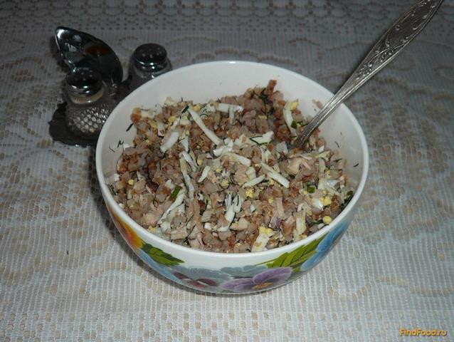 Рецепт Гречневая каша с яйцами и куриным мясом рецепт с фото