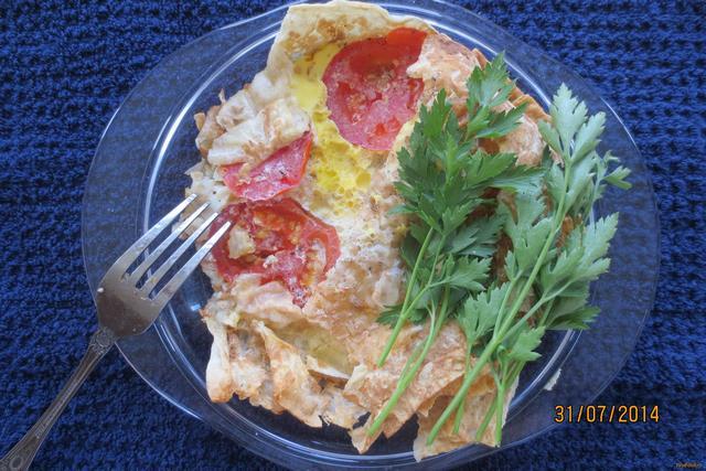 Рецепт Яйцо под лавашом рецепт с фото