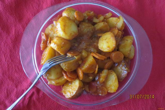 Рецепт Картофель с овощами в соусе рецепт с фото