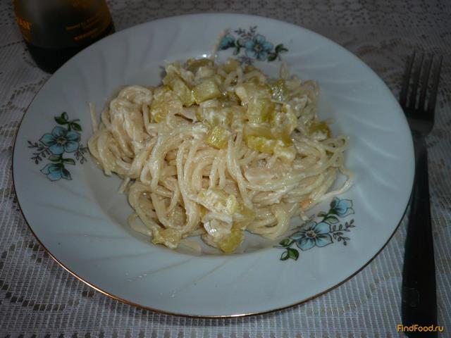 Рецепт Спагетти с соусом из кабачка рецепт с фото