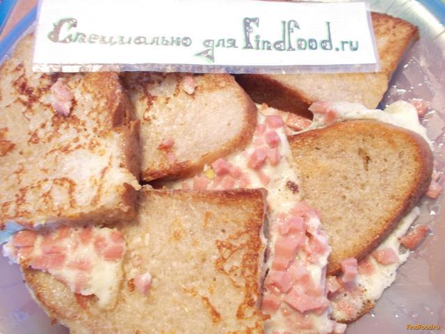 Яичные гренки с колбасой рецепт с фото 7-го шага