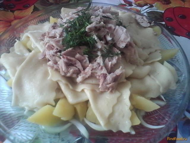 Рецепт Бешбармак с окорочками рецепт с фото