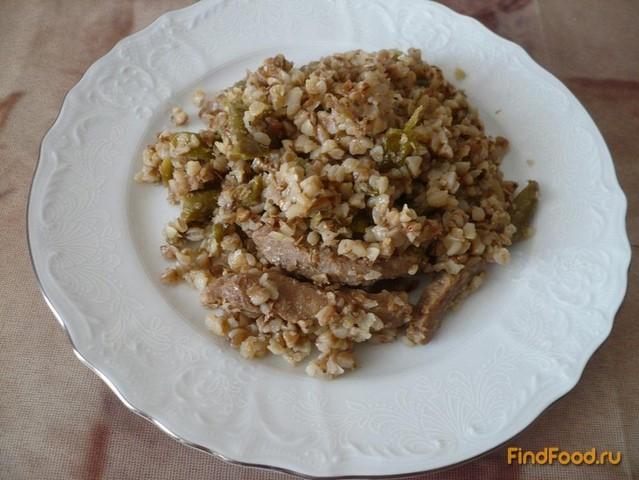 Рецепт Постная гречка со стручковой фасолью и соевым мясом рецепт с фото