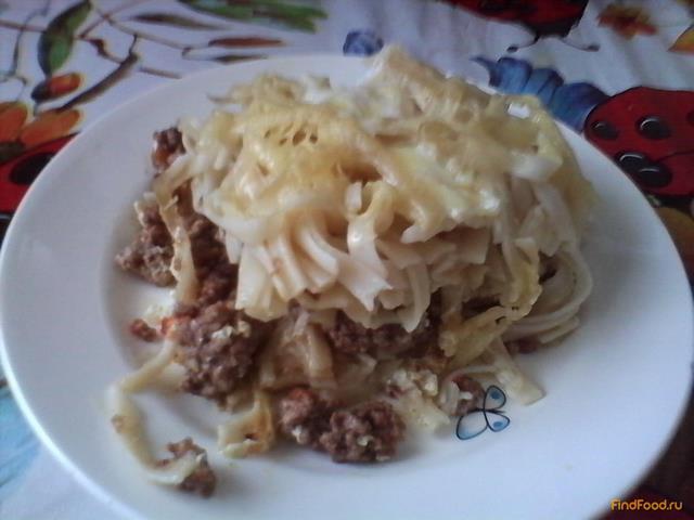 Рецепт Запеканка со спагетти и мясным фаршем рецепт с фото