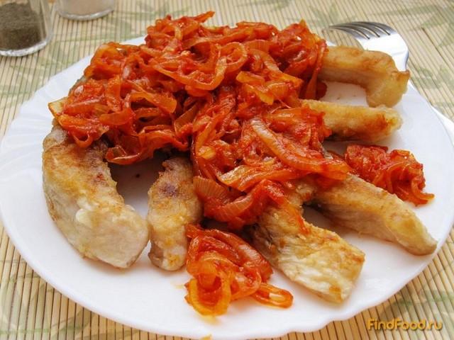 Рецепт Карп жареный с луково-томатным соусом рецепт с фото