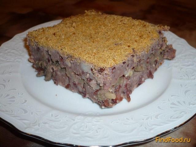 Рецепт Постная картофельно-фасолевая запеканка рецепт с фото