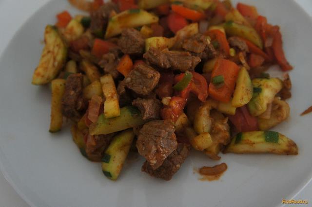 Рецепт Пикантная говядина с овощами рецепт с фото