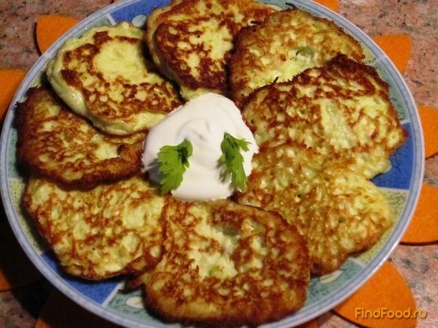 Рецепт Оладьи из кабачков с творогом рецепт с фото