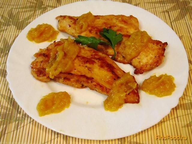 Рецепт Куриное филе под апельсиновым соусом рецепт с фото