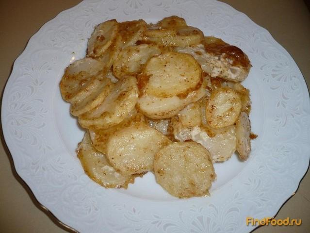 Рецепт Картошка запеченная в майонезе рецепт с фото