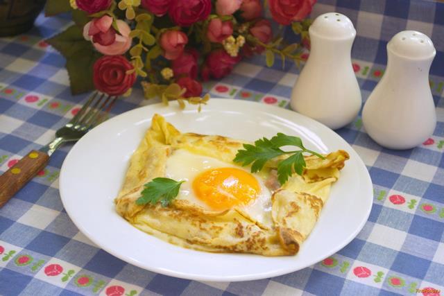 Рецепт Завтрак в блине рецепт с фото