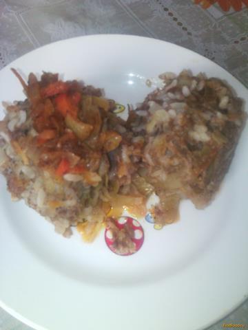 Рецепт Ленивые голубцы в казане с овощной подливкой рецепт с фото