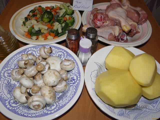 Куриные голени запеченные с овощами рецепт с фото 1-го шага