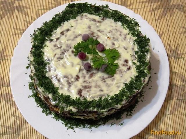 Рецепт Классический торт из печенки рецепт с фото