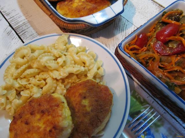 Рецепт Куриные котлеты с морковью и сыром рецепт с фото