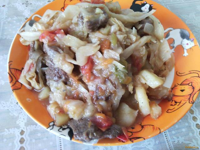 Рецепт Овощное рагу с мясом рецепт с фото
