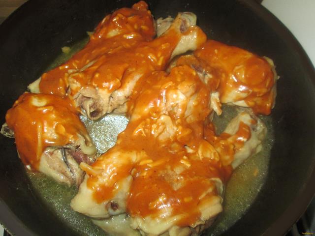 Жареная курица с подливкой рецепт с фото
