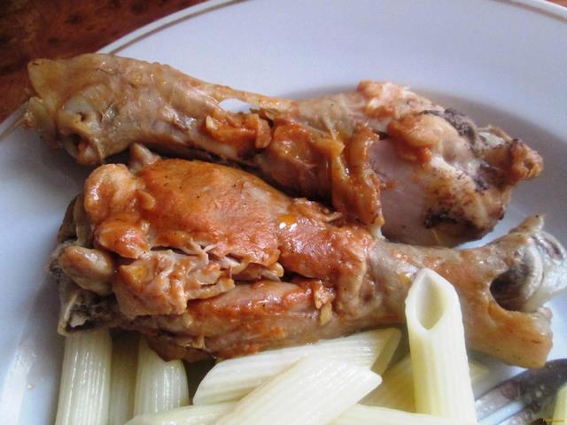 Рецепт Жареная курица под чесночно-соевым соусом рецепт с фото