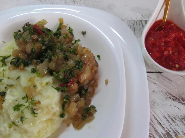 Рецепт Рыба под луковым соусом рецепт с фото