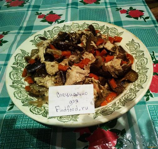 Рецепт Баклажаны в рукаве с куриным филе рецепт с фото