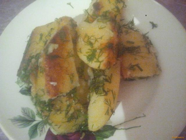Рецепт Картофель с укропом и чесноком рецепт с фото