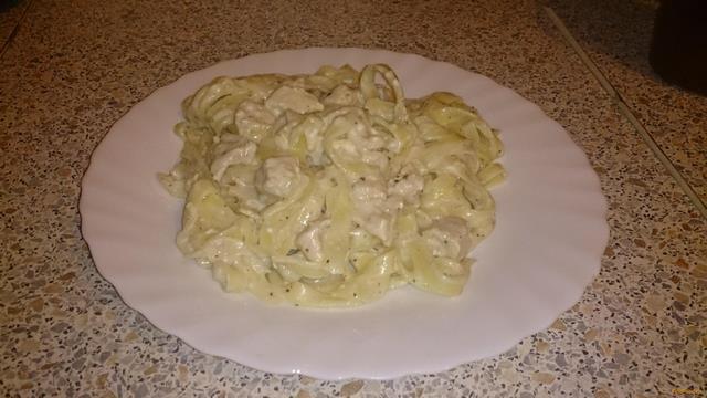Рецепт паста с курицей в сливочном соусе рецепт с фото