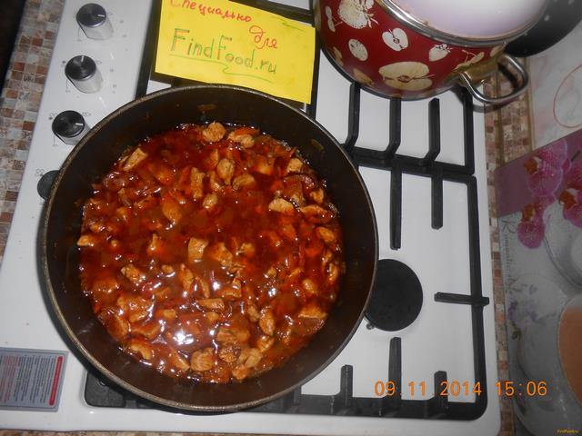 Рецепт Гуляш из курицы рецепт с фото