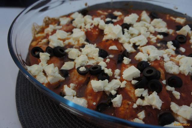 Рецепт Индейка под шубкой из маслин и сыра Фета рецепт с фото