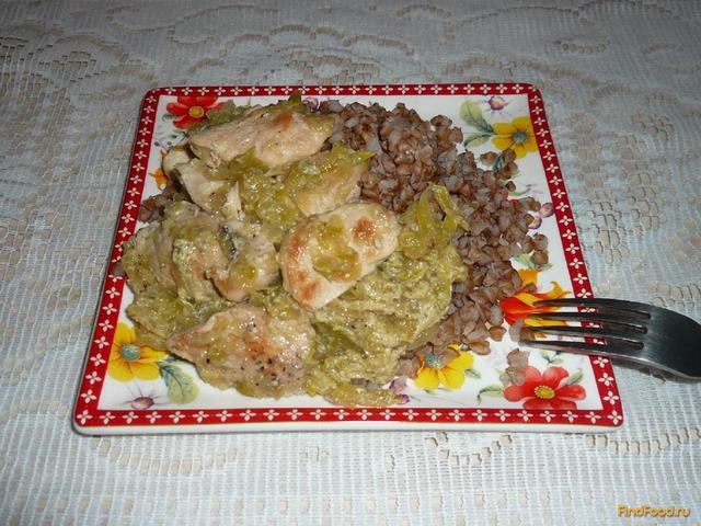 Рецепт Куриная грудка тушеная с кабачком рецепт с фото