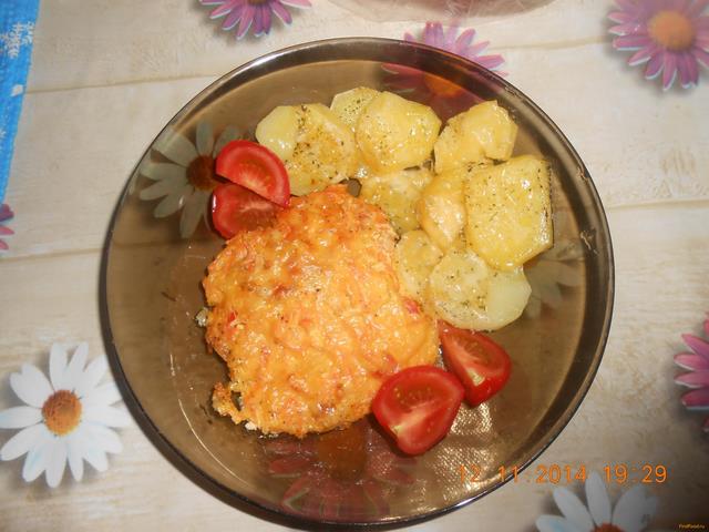 Рецепт Горбуша под шубой в духовке с картофелем рецепт с фото