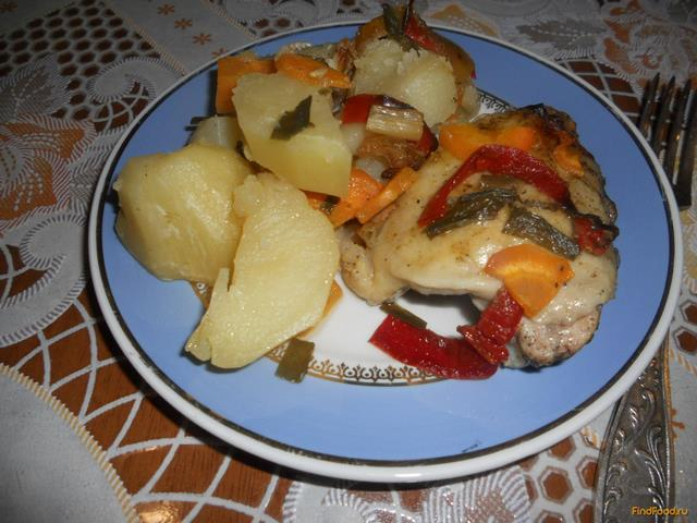 Рецепт Курица с овощами в рукаве для запекания рецепт с фото