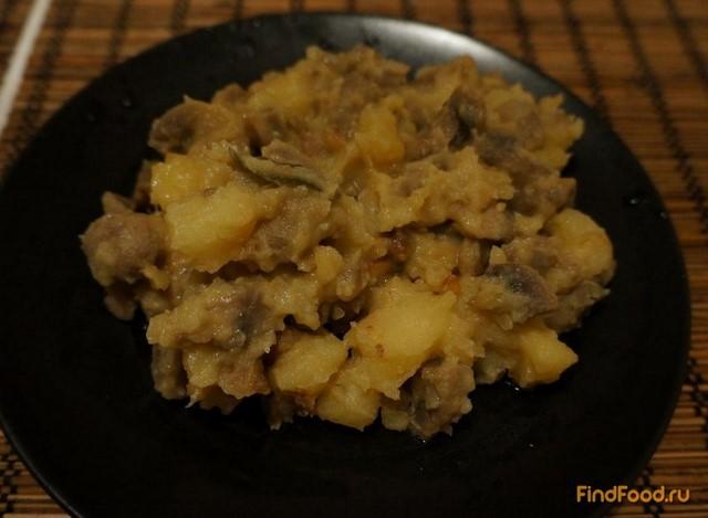 Рецепт Картофель тушеный с шампиньонами рецепт с фото