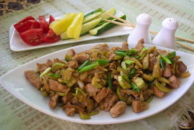 Рецепт свинина с кабачком фото рецепт