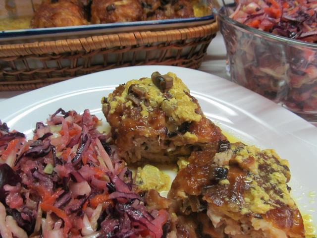 Рецепт Куриные вертуны с витаминным салатом рецепт с фото
