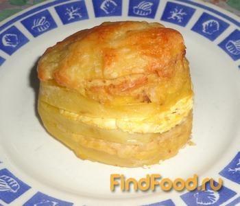 Рецепт Картофель фаршированный курицей и творогом рецепт с фото